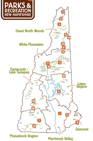 Campgrounds in New Hampshire A list of the top camping spots